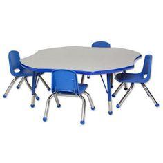 "ECR4Kids 5 Piece Novelty Activity Table  & 10"" Chair Set"