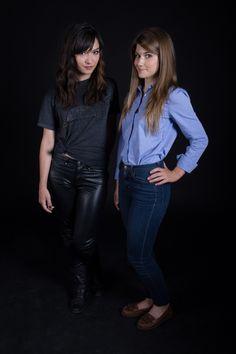 #Hollstein #Carmilla Promo Pics #SeasonOne | Natasha Negovanlis as #CarmillaKarnstein & Elise Bauman as #LauraHollis