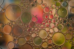 oil and water Texture Photography, Water Photography, Macro Photography, Science Geek, Bubble Art, Oil Water, Picts, World Of Color, Abstract