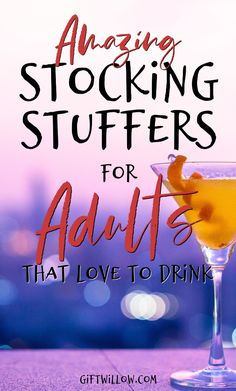 These stocking stuffers for adults that love to drink are perfect for wine lovers, beer lovers, and anyone that enjoys a nice cocktail at happy hour! They're fun and easy adult stocking stuffers that everyone will enjoy! Stocking Stuffers For Adults, Stocking Stuffers For Teens, Cheap Stocking Fillers, Mason Jar Cocktails, Holiday Stress, Beer Lovers, Travel Hacks, Travel Packing, Solo Travel