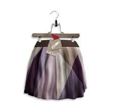 0014cd7f7b Tee fy Skater Skirt Colour Collide Purple Skater Skirt