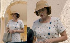The Durrells - Keeley Hawes spotty dress