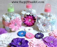 Baby Bottle mini diaper cake by TheGiftBaskit on Etsy, $11.99