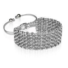 Silver Kismet Links Bracelet   Slate   Deluxe
