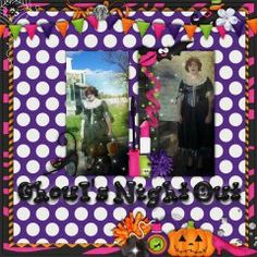 a fun Halloween layout using the Ghoul's Night Out Kit by A-Manda Creation
