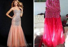 Mit diesem Kleid fällst du auf jeden Fall auf der nächsten Party auf. Aber die beiden Kleider haben ja wirklich überhaupt keine Ähnlichkeit miteinander. Am Schlimmsten ist der Farbunterschied. | unfassbar.es
