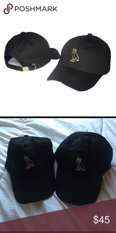 🔥OVO Owl Dad Hat🔥 (Black/Gold) 🚨*BRAND NEW*🚨 OVO Style Dad Hat with Gold buckle on back. 2 Available. EVERYTHING IS ON SALE FOR SPRING CLEANING!! Make any offer and let's work something out. OVO Accessories Hats