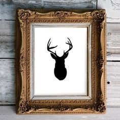 Oh Deer Silhouette Print, by Stellagirl in New Hampshire. Perfect mix of texture and simple nature subject. Me likey.
