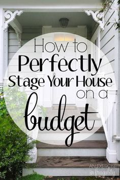 How to Stage Your House on a Budget. Yes it's possible! I staged our house for less than $70 using mostly stuff we already had and we sold it on DAY THREE of being listed with multiple full-price offers! It's not as scary as you think to DIY your home sta