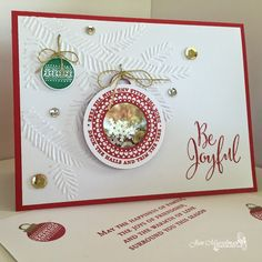Stampin Up' - Merriest Wishes - Pine Bough Embossing Fldr - Christmas Card - 2016 Holiday Catalog - i♥Cards2