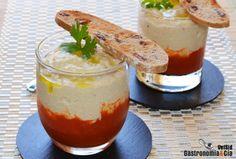 Brandada de bacalao con coulis de tomate