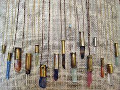 quartz crystal bullet necklace - raw quartz necklace - unearthen necklace - bullet pendant