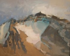 """Peter Campbell, """"Peak"""" Oil on Panel, 8"""" x 10"""""""