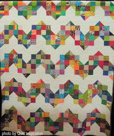 Up The Down Staircase by Brenda Archambault, quilted by Carolyn Helvie