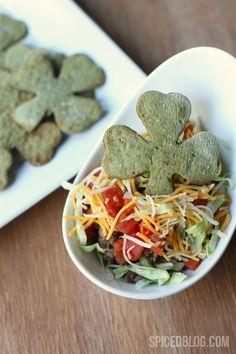 St. Patrick's Day Shamrock Tortilla Chips! Super cute!