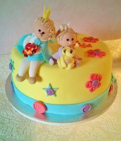 Purppurahelmen juhla- ja  fantasiakakut: Lilja 1 Lauri 2 syntymäpäiväkakku