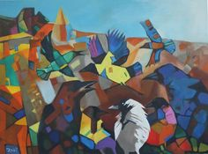 Bird's-eye View by Studio Zaki | Acrylic On Canvas | Size (W x H): 40 x 30 inch