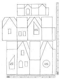 Printable Patterns for Putz Glitter Houses Cardboard Box Houses, Cardboard Paper, Paper Houses, Paper Toys, Christmas Village Houses, Putz Houses, Christmas Villages, Gingerbread Houses, Fairy Houses
