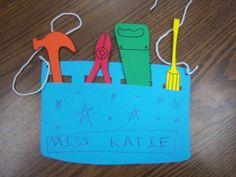 tool belt craft   Tools Storytime and tool belt craft   Preschool Crafts