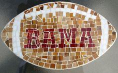 Alabama Crimson Tide Football Mosaic by Anniedogg on Etsy, $60.00