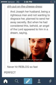 Bahahahaha I have thought about this so many times when Gabriel is on screen