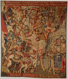 'How Medieval and Renaissance Tapestries were made' - MetMuseum  http://www.metmuseum.org/toah/hd/tapm/hd_tapm.htm