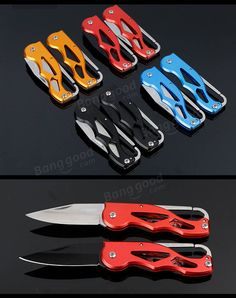 LAOTIE 100mm Multifunction Portable Pocket Survival Folding Knife Key Chain Camping Fishing Tools