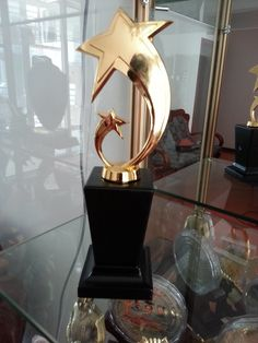 Bespoke Gold Trophies And Awards Designed Manufactured In The UK