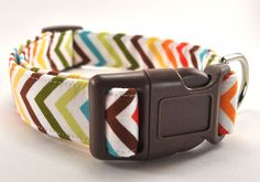 The Chevron  Dog Collar by CollarsByDesign on Etsy, $16.50