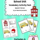 School Unit Vocabulary Literacy Activity Pack (Spanish) Vocabulary Activities, Vocabulary Words, Early Reading, School Themes, Reading Skills, Spanish, Packing, The Unit, Student