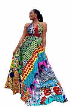 #affiliatelink African Maxi Dresses, Maxi Gowns, African Attire, African Wear, Ankara Dress, Women's Dresses, African Print Fashion, African Prints, Special Dresses