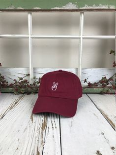 50060138a79 Peace Hand Embroidered Baseball Cap Dad Hat Low от PrfctoLifestyle Green  Baseball Cap