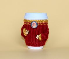 Harry Potter inspired coffee cozy Travel mug cozy by MugHugCozy