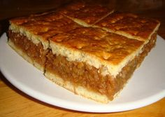 Házi almás pite Hungarian Cuisine, Hungarian Recipes, Hungarian Food, Sweet Pastries, Eat Dessert First, Something Sweet, What To Cook, Apple Recipes, Let Them Eat Cake