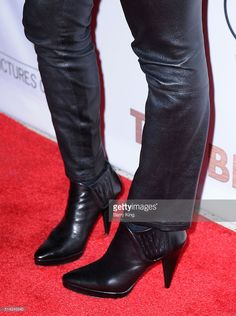 Kaley Cuoco, shoe detail, attends the Premiere of Sony Pictures Classics' 'The Bronze' at SilverScreen Theater at the Pacific Design Center on March 7, 2016 in West Hollywood, California.