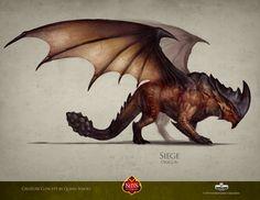 Siege Dragon by QuinnSimoes.deviantart.com on @deviantART