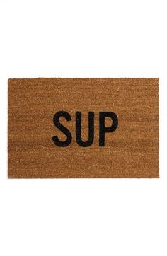 Free shipping and returns on REED WILSON DESIGN 'Sup' Doormat at Nordstrom.com. Welcome visitors with a cool, casual doormat featuring natural coconut-fiber bristles.