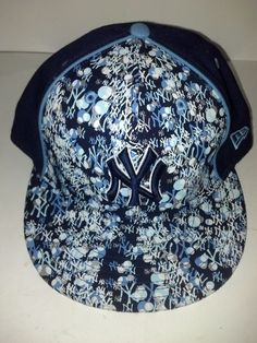 7ab2fa139 New Era MLB Baseball New York Yankees 5950 Fitted Cap Hat Sz 7.5 NY UNIQUE   NewEra  NewYorkYankees  yankees  59fifty  hat