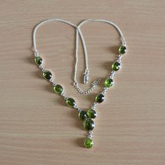 10% Discount for all products Classic Design Necklace of Prehnite Gemstone by DevmuktiJewels
