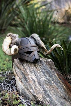 Goat's horned helmet
