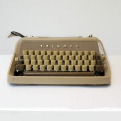 Triumph Gabriele 3 Typewriter For Sale - My Cup Of Retro Typewriter Shop Modern Typewriter, Working Typewriter, Typewriter For Sale, Antique Typewriter, Vintage Typewriters, I Cup, Shop My, Store, Larger