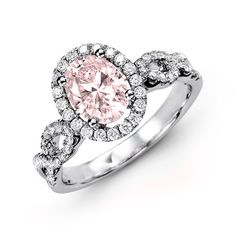 #Engagementring #Morganite #Coloredring #Oval