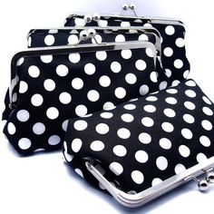 Bridemaids clutch purse http://www.etsy.com/listing/74922753/grand-opening-sale-gift-set-of-4?ref=sr_gallery_21_search_query=black+and+white+polka+dot_page=38_search_type=handmade_facet=handmade