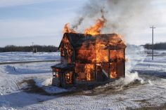 The Dollhouse goes up in flames