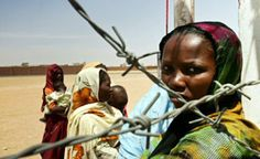 Sudan War - women and children in refuge camp