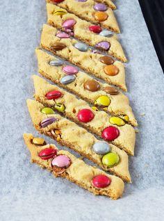 Smartiessnittar – Lindas Bakskola Banana Cream, Fika, Dessert Recipes, Desserts, All Things Christmas, Mousse, Tart, Food And Drink, Sweets