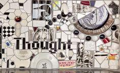 Mosaic Backsplash, Broken China, Kitchen Pantry, Mosaics, Tea Pots, Porcelain, Miniatures, Vase, Plates