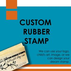 Custom Rubber Stamp by JLMould 1.5x1.5 Small Business by JLMould, $16.95