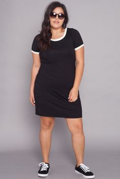 Plus Size Tee Dress | Black