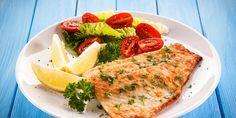 solomos me salata Salmon Burgers, Diet, Chicken, Ethnic Recipes, Food, Meal, Essen, Loosing Weight, Diets